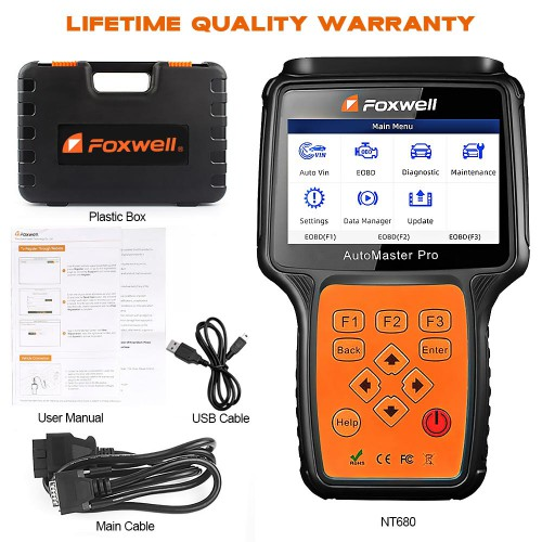 【Ship from US】Originl FOXWELL NT680 All Systems Scanner with Special Functions