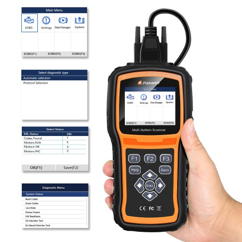 [ship from us] Original Foxwell NT530 Full-System OBD2 Diagnostic Scanner Upgrade Version of NT520 Pro For Latest Car models