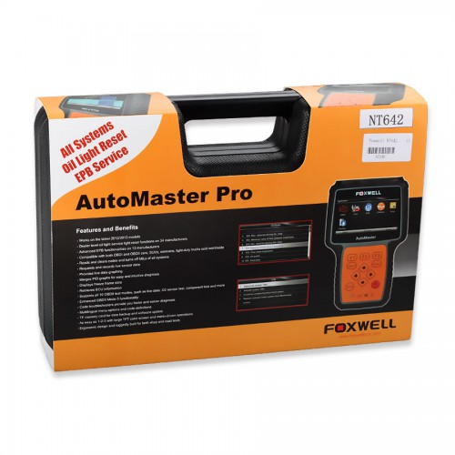 (Clearing Stock Price!) Foxwell NT642 AutoMaster Pro European-Makes All System+ EPB+ Oil Service Scanner