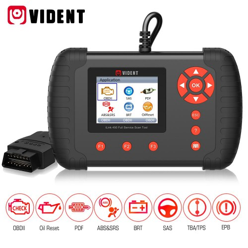 VIDENT iLink 450 support ABS&SRS reset /DPF/Battery Configuration Full Service Tool
