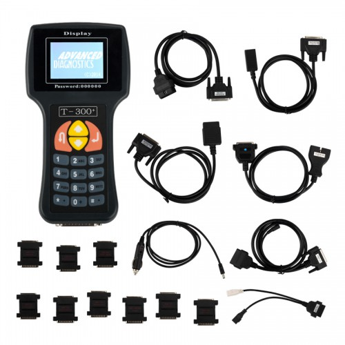 V20.3 T300 T300+ Key Programmer English Version BLACK