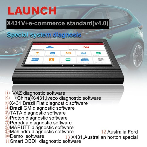 [Ship from US] Launch X431 V+ 4.0 Wifi/Bluetooth 10.1inch Tablet Global Version 2 Years Update Online
