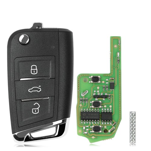 XHORSE XEMQB1EN Super Remote Key MQB Style 3 Buttons Built-in Super Chip English Version 5pcs/lot