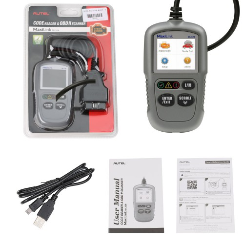 Autel MaxiLink ML329 Code Reader Engine Fault CAN Scan Tool (Advanced Version of Autel AL319)