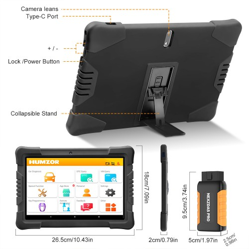 [Ship from US/UK] Humzor NexzDAS Pro Bluetooth 9.6inch Tablet Full System Auto Diagnostic Tool with IMMO/ABS/EPB/SAS/DPF/Oil Reset