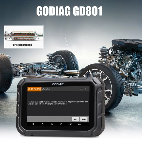 GODIAG GD801 Key programming and Mileage Correction Tool Support ABS SRS Functions Get Free Gift Godiag GT100