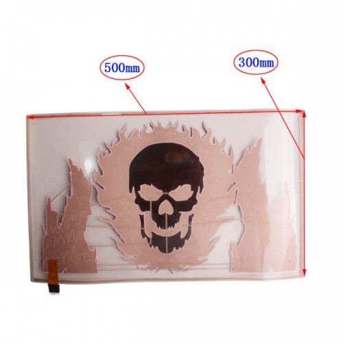 40x30cm Car Music Rhythm Lamp LED Sound Control Flashing Flame Skull