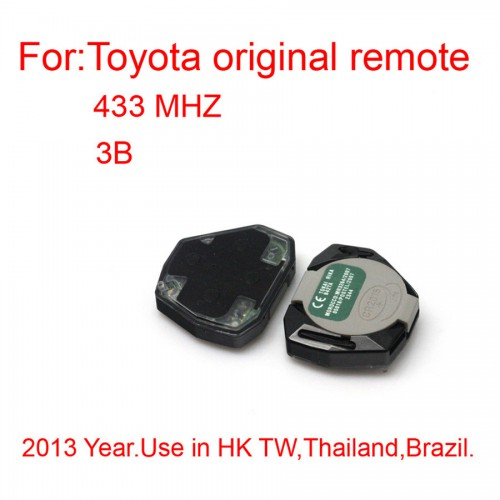 Original Remote Key for Toyota 3 Buttons 433MHZ(2013)