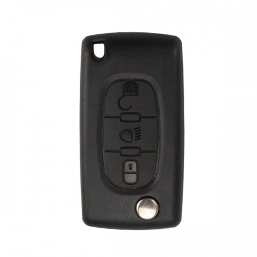 Flip Remote Key Shell for Citroen 3 Light Buttons Without Battery Location 5pcs/lot