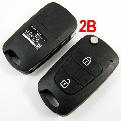 Modified Flip Remote Key Shell for Hyundai Verna 2 Button 5pcs/lot