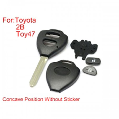 Toyota Corolla Remote Key Shell 2Buttons TOY47 with Concave without Paper 10pcs/lot