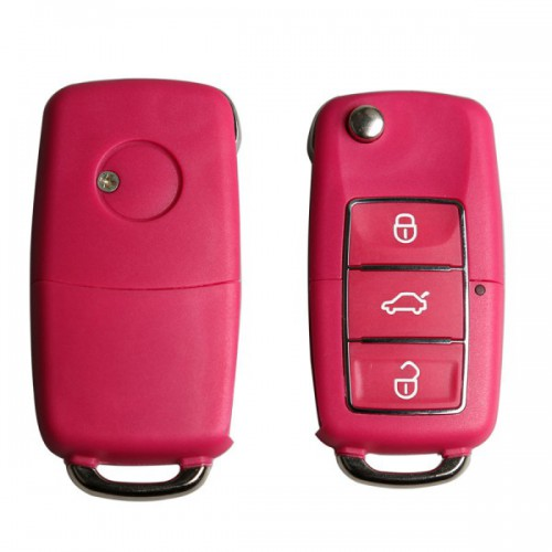 Volkswagen B5 Type Remote Key Shell 3 Buttons With Waterproof(Red) 5pcs/lot