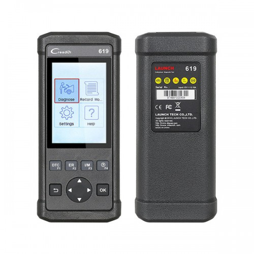 Launch Creader 619 Code Reader Full OBD2/EOBD Functions Support Data Record and Eeplay Diagnostic Scanner