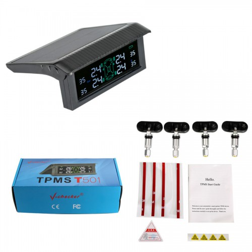 (Special offer) V-checker T501 TPMS Tire Pressure Monitoring System Tire Internal Sensor with Bluetooth