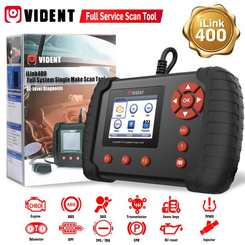 (Ship from US) Original VIDENT iLink400 Full System Single Make Scan tool Supports GM/ Ford/ BENZ/Bmw/ Chrysler/ Volvo ect