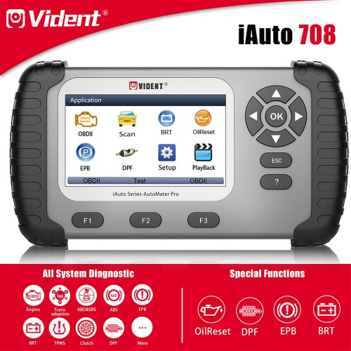 [Best Offer] VIDENT iAuto708 Full System All Make Scan Tool OBDII Scanner OBDII Diagnostic Tool