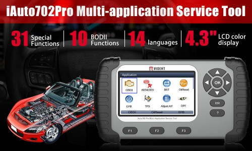 [Ship from US] VIDENT iAuto 702Pro Auto Diagnostic Tool With 31 Special functions