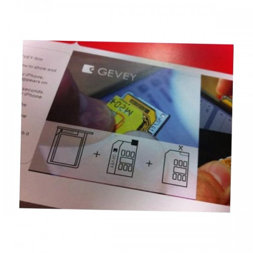 Gevey Turbo Unlock Sim Card for iPhone 4G 10pcs/lot