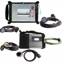 V2019.07 MB SD Connect C4 C5 with DTS Monaco & Vediamo Software Plus EVG7 DL46 Diagnostic Controller Tablet PC Free Installation