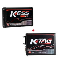 Kess V5.017 Online Version Supports 140 Protocol and EU Version Red PCB New 4LED KTAG 7.020 Firmware V2.23 No Token Limited