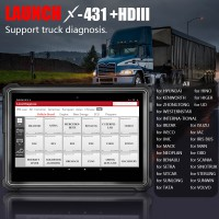 LAUNCH X431 HD III Module Heavy Duty Truck Diagnostic Tool 24V truck with X431 V+ pro3 PAD II Android HD 3