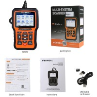 Foxwell NT510 Elite Multi-System Scanner with 1 Free Car Software+OBD Service Reset Bi-Directional Active Test Code Reader Same as NT530