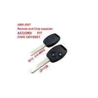 Remote Key for 2005-2007 Honda 2+1 Button and Chip Separate ID13 (313.8 MHZ) fit ACCORD FIT CIVIC ODYSSEY