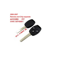 Remote Key for 2005-2007 Honda 3 Button and Chip Separate ID13 (315 MHZ) fit ACCORD FIT CIVIC ODYSSEY