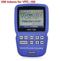 500 Tokens for VPC-100 Hand-Held Vehicle Pin Code Calculator