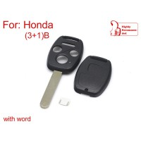 Remote Key Shell for Honda 3+1 Button(With Paper Sticker)5pcs/lot