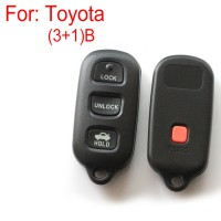 3+1 Button Remote Key Shell for Toyota 5pcs/Lot
