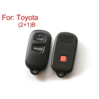 Remote Key Shell for Toyota 2+1 Button 5pcs/lot