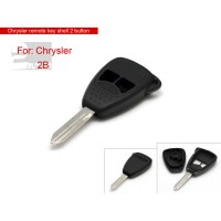Remote Key Shell 2 Button for Chrysler 5pcs/lot