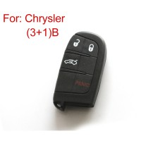 Remote Key Shell for Chrysler 3+1 Button