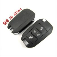 Remote Key for Peugeot 508 3 Button 433mhz
