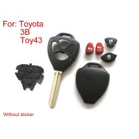 Remote Key Shell for Toyota 3 Button (Without Sticker) 5pcs/lot