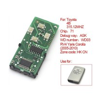 Smart Card Board 4 Buttons 315.12MHZ Number :271451-0111-HK-CN for Toyota