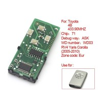 Smart Card Board 4 Buttons 433.92MHZ Number :271451-0111-Eur for Toyota