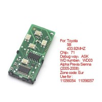 Smart Card Board for Toyota 5 Buttons 433.92MHZ Number :271451-0780-Eur
