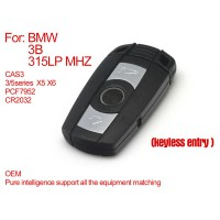 Pure Smart Key for BMW CAS3 3 Buttons 315LP MHZ (Keyless-Entry) PCF7952