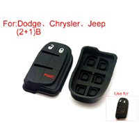 Button Rubber 2+1Button (Use for Dodge Chrysler Jeep) 5pcs/lot