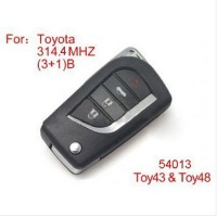 Modified Remote key 4Buttons 314.4MHZ (No Chip Inside) for Toyota
