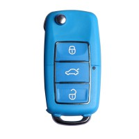 Remote Key Shell for Volkswagen B5 Type 3 Buttons with Waterproof (Blue) 5pcs/lot