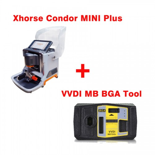 【Xhorse Promotion】Latest Xhorse Condor MINI Plus Cutting Machine with VVDI MB BGA Tool Benz Key Programmer Get One Free BGA Token Everyday