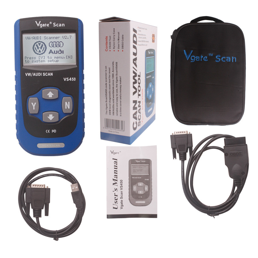 VS450 V-A-G CAN OBDII SCANTOOL
