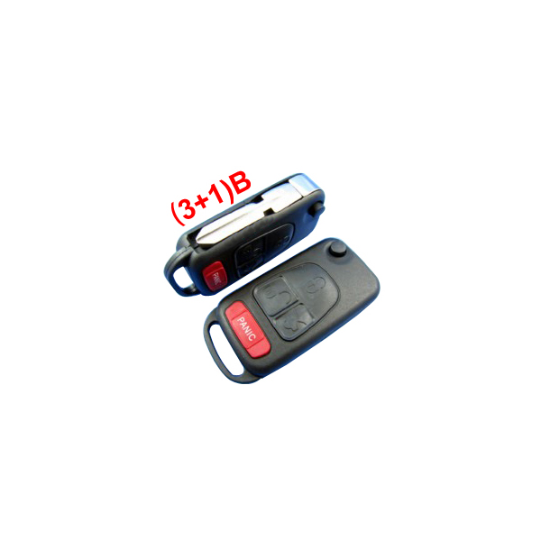 Remote Key Shell for New Benz (3+1) button 5pcs/lot