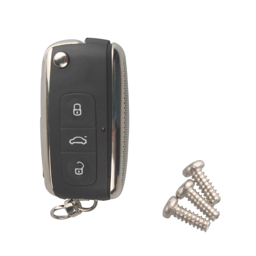 Modified Flip Remote Key Shell 3 Button for VW Skoda 5pcs/lot