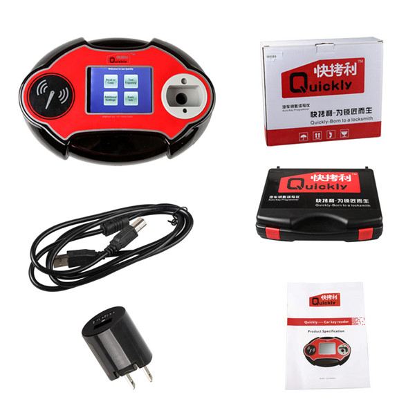 V2.14.8.16 Quickly 4C/4D/46/48 Code Reader Chip Transponder Key Programmer