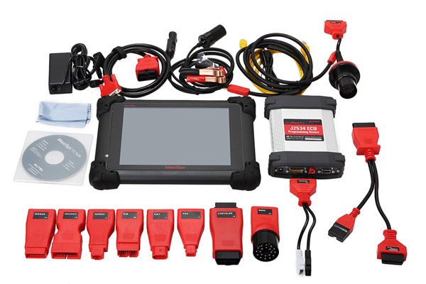 Original Autel MaxiSYS Pro MS908P Vehicle Diagnostic System With J2534 MaxiFlash Elite Support Key Coding